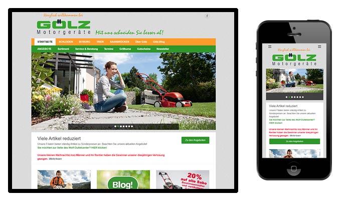 Website Gölz Motorgeräte Süd
