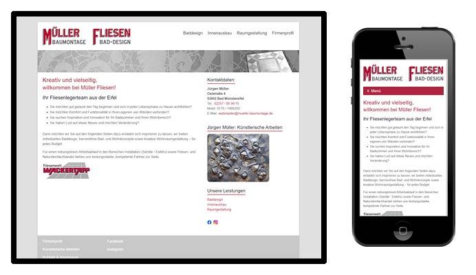 Website Müller Baumontage
